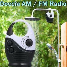 AM / FM Mini-Duschradio Badezimmer Wasserdichtes Radio Musikradio Schwarz H3Y1