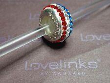 ** Genuine Lovelinks * FLAG SLIM CRYSTAL BALL Charm RRP £45 **