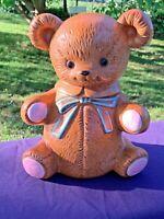 Vintage Antique TEDDY BEAR Unique Made COOKIE JAR Rare Estate Find  11/7 ❤️sj17j