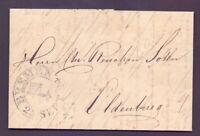 Vorphilabrief Bremen 1824 mit großem Schlüsselstempel nach Oldenburg (240)