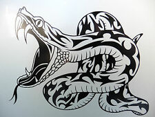 Snake Python anaconda animals stickers/car/van/bumper/window/decal 5232 BlacK