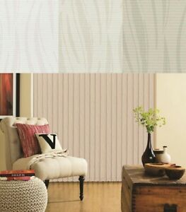 Diva Wave Patterned PVC Washable Replacement Vertical Slats - Made To Measure
