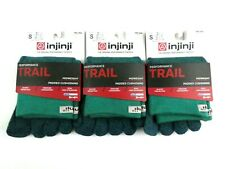 Injinji Trail Toe Sock LOT OF 3 Green Teal S (M 5-7.5/W 6-8.5) Mini-Crew Midwt.