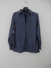 Ralph Lauren women's size S blue striped cotton shirt