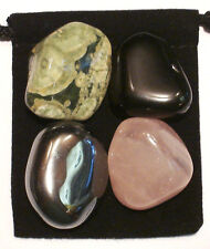 SELF CONFIDENCE Tumbled Crystal Healing Set = 4 Stones + Pouch + Card