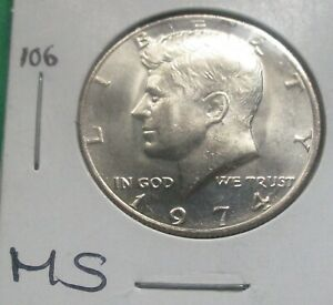 1974 KENNEDY HALF DOLLAR. MS CONDITION, FROM A MINT SET. HIGH GRADE.  (106).