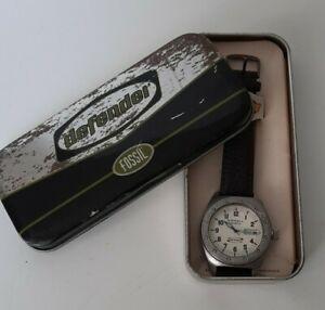 Fossil Defender Armbanduhr für Herren Leder Braun Neu