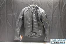 NEW MENS EXTRA LARGE PADDED GENUINE LEATHER SPORT BIKE JACKET *JACKETS RUN SMALL