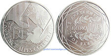 10  EUROS  ARGENT  ,  PROVENCE ALPES PACA ,  2010 ,  SUPERBE  À  FLEUR  DE  COIN