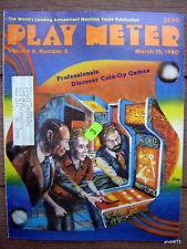 1980 arcade/pinball PLAY METER MAGAZINE~Gorgar/Space Invader/Torch/Coney Island