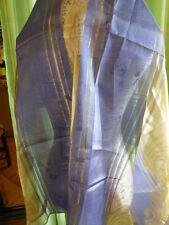 tissus voilage ,bleu nuit et dorures  1,18x1,05 neuf