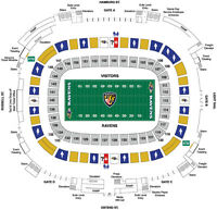 BALTIMORE RAVENS FRONT ROW ! MID FIELD !  RAVENS SIDE ! Two PSL!