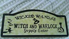 Halloween Wooden Wall Plaque/Door Sign ~ Wicked Wanda's Witch & Warlock Supplies