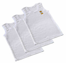 Girls 100% Soft Cotton Vests All Ages from 1 to 13 years / Pack of 1 or 3 Vests