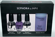 Sephora By OPI 4 Pc MINI Nail Polish Lacquer 1/8 oz Ea  & Polish Remover Set **