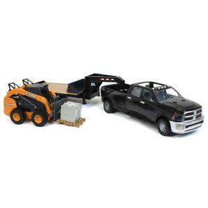 1/16 Ram 3500 Truck, Gooseneck Trailer, and Case Skid loader by ERTL 46614