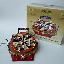 Mr. Christmas World's Fair Roundabout Spinning Teacups Gold Label Collection