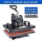 "DIY Heat Press Machine 360° Swing Away Digital Sublimation T-Shirt Pad 12X15"""