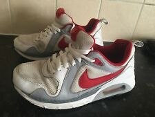 NIKE AIR MAX 1 CLASSIC WHITE   RED RUNNING SHOES TRAINERS SIZE 5.5 UK GYM  RACE f0e8f4339