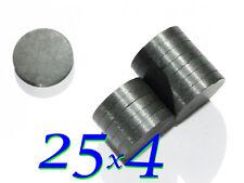10 pezzi MAGNETI FERRITE 25x4mm STRONG  Y30BH MAGNETE  FIMO CERAMICA CALAMITA