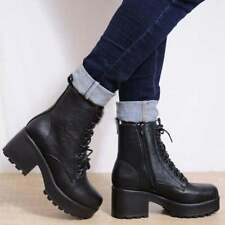 Unbranded Block Heel Leather Boots for Women