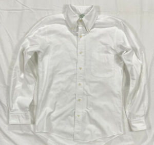 Made In USA Vtg Brooks Brothers White Supima Cotton Oxford Shirt 141/2 32 Small