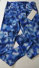 Lululemon NWT Size 10 Wunder Under HR Tight Blue White Blush Blossom Luxtreme