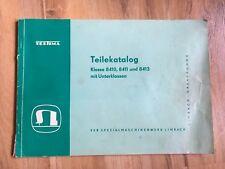 alter Katalog Nähmaschine Textima Teilekatalog 8410 8411 8413