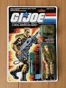 Hasbro 1988 Gi Joe Repeater Steadi-cam Machine Gunner MIP
