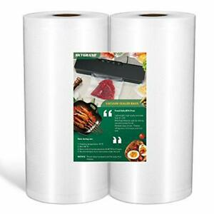 """Vacuum Sealer Bags For Food Saver Seal A Meal 8""""x50 Feet Rolls 2 Pack"""