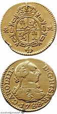 SPAIN COLONIAL GOLD COIN 1/2 ESCUDO CHARLES III MADRID MINT 1788 AD