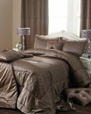 Pair Riva Cristal Taupe Pillow shams & 3 scatter cushions, Ex Display