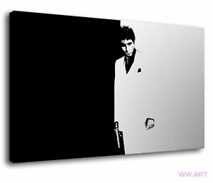 Scarface Al Pacino Cult Movie Drug Gangster Canvas Wall Art Picture Print
