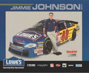 2001 Jimmie Johnson Lowe's Chevy Monte Carlo NASCAR Winston Cup B/B Hero Card