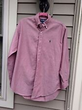 Ralph Lauren Polo L Sleeve S 100% Cotton Rust Broadcloth Shirt Pre-Owned Men's
