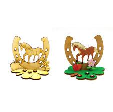 Kreativ Set für Kinder Pferd stehend Hufeisen Holz Kindergeburtstag Verschenken
