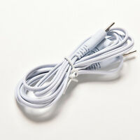 1X Electrotherapy Electrode Lead Wires Cable Tens Massager 2.5mm Connection D Am