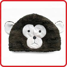 CUTE CHEEKY MONKEY WITH EARS ANIMAL CARTOON PLUSH FLUFFY BEANIE HAT CAP