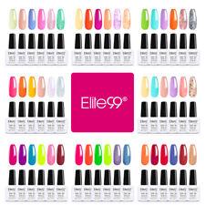 Elite99 Vernis Semi permanent Lot de 6pcs Nail Gel UV LED Soakoff Kit Manucure
