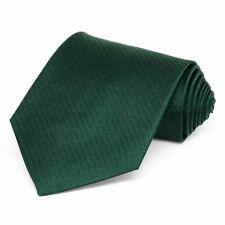 Silk Hunter Green Herringbone Silk Necktie