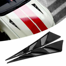 2 x Black Car Decoration Air Flow Intake Scoop Bonnet Simulation Vent Cover Hood
