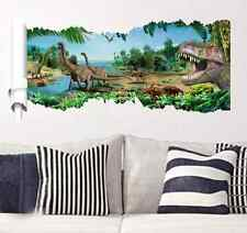 X1 Jurassic World Dinosaur Wall Stickers Decal Vinyl Children Bedroom Decoration