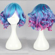 Lolita Short Long Curly Wavy Hair Full Wigs Harajuku Anime Cosplay Wig Party