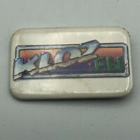 Unusual Vintage KLOZ FN Radio Advertising? Not Sure Button Pin Pinback  S1