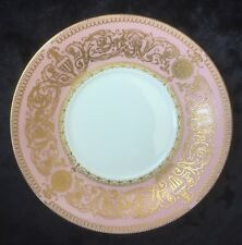 "Vintage Royal Worcester ""Balmoral"" Saucers In Pink & Gold"