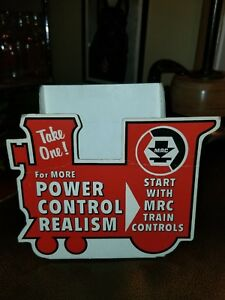 Vintage 1970s MRC Toy Train Controller Display Stand