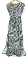 Tommy Bahama Strapless Maxi Dress Black White Stripe Size Small S