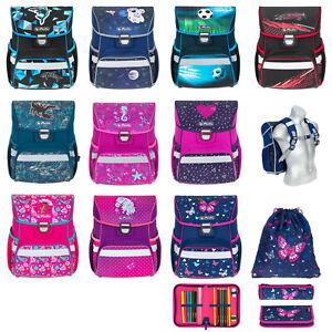 Schulranzen Jungen Mädchen Schule Schultasche Herlitz Loop Plus 4T Set Wahl
