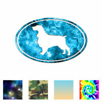 Field Spaniel Oval Dog - Decal Sticker - Multiple Patterns & Sizes - ebn3663