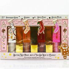 Too Faced Holiday Lip Gloss Set Peppermint Bark Eggnog Spice Cake Sugar Plum